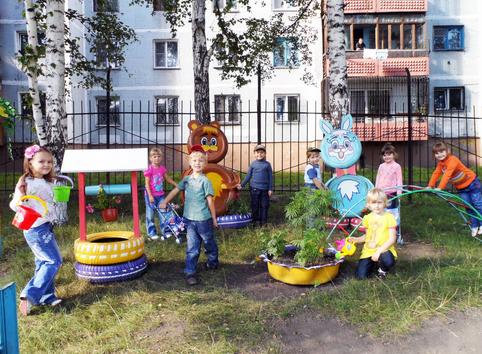 Оформление площадок в детских садах