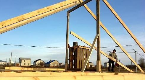Поэтапное строительство крыши дома своими руками