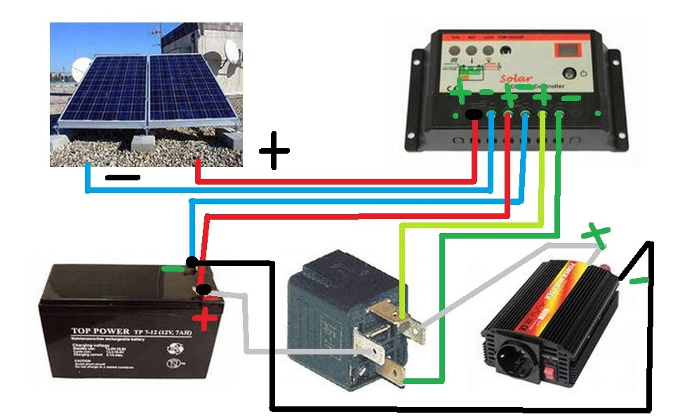 Схема подключения солнечных панелей фото 495
