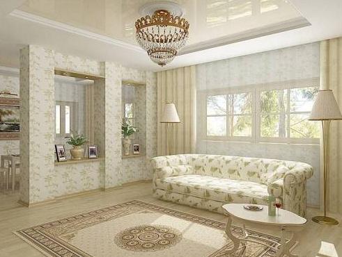 Интерьер зала в квартире  ТОП50 фото дизайна для зала