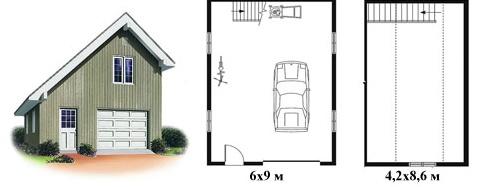 Проект гаража с мансардой на одну машину переставить гараж металлический