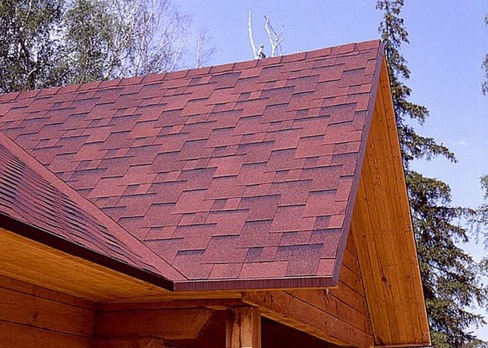 Покрытие крыши мягкой кровлей