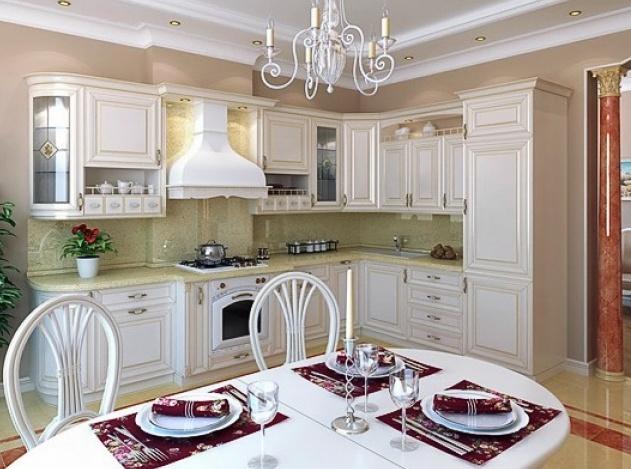 Белая классическая кухня фото в интерьере