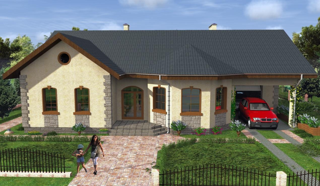 Проекты домов с гаражом и террасой
