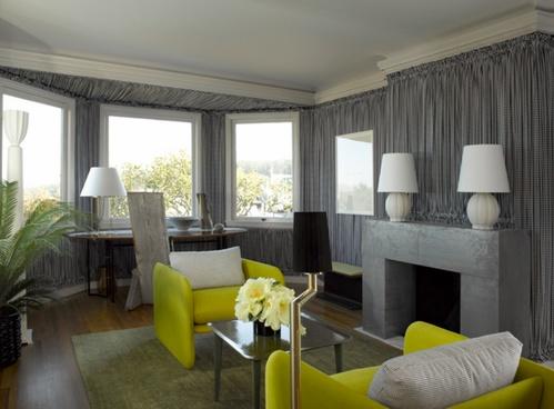 Интерьер гостиной в сером цвете фото