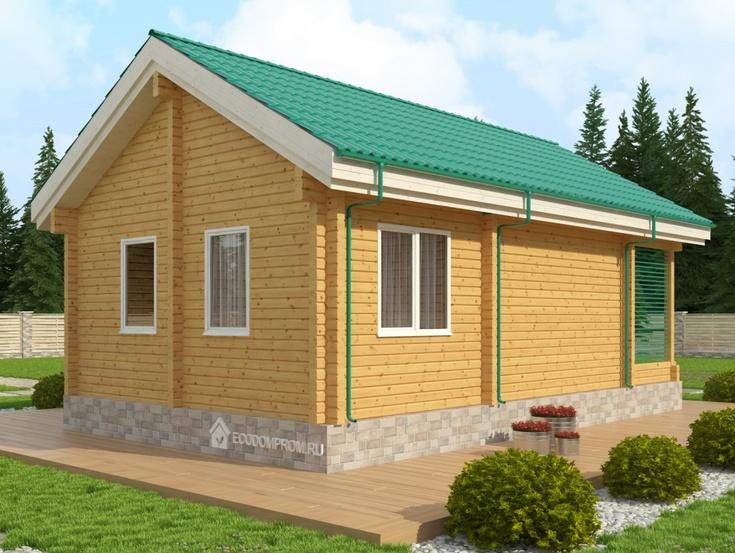 Деревянные одноэтажные дома из бруса